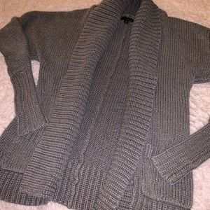 Gray Express Cable Knit Cardigan